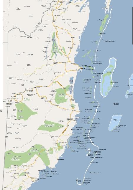 Barierový útes se táhne podél celého pobřeží Belize