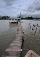 Cesta domů v Tanjung Aru Lama